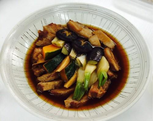 蔵王豚と旨い野菜の炊き合わせ