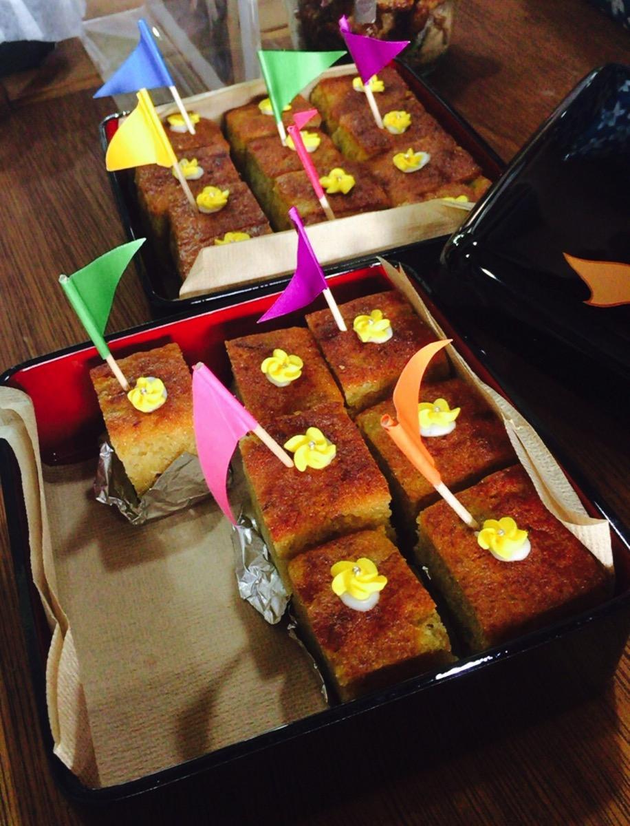 手作りのケーキ