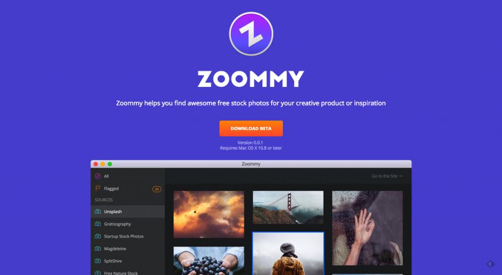 海外19サイトの高品質・商用フリー画像を一括管理できるMacアプリ「Zoommy」が素晴らしい