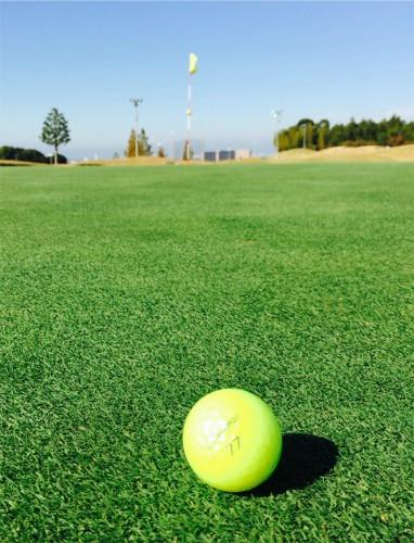 グリーン上のゴルフボール