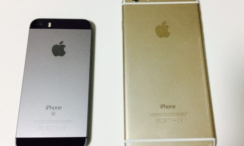 iPhoneSEとiPhone6Plus
