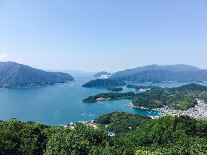 五老タワーから見た舞鶴湾