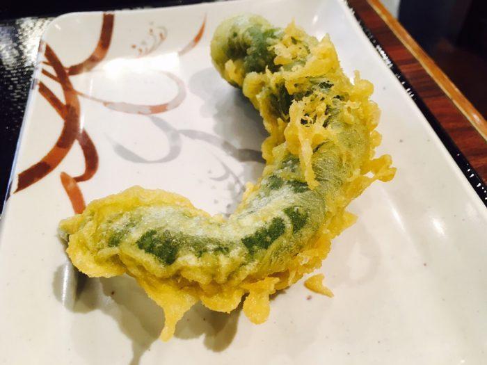 万願寺唐辛子の天ぷら
